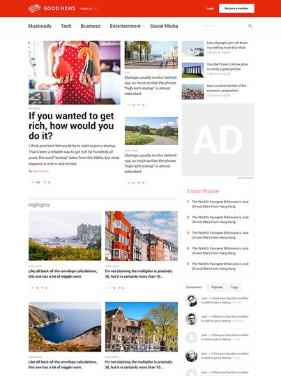 Advanced Blog Magazine WordPress Theme - Good News
